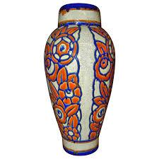 Deco Vase Catteau Era Ceramic Art Deco Vase With Flower Motif Boch Freres