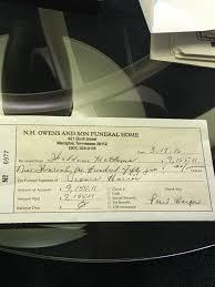 funeral expenses funeral expenses for vianca harris paid in thaddeus matthews
