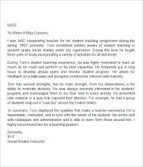sample letter of recommendation for teacher education