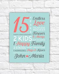 25 year anniversary gifts personalized anniversary gifts wedding date canvas 15th