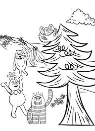 brobee foofa and toodee want to save baby birds on tree in yo