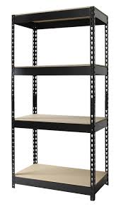 Shelving Units Amazon Com Hirsh Industries Steel 4 Shelf Unit 30 By 16 By 60
