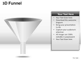 3d funnel marketing sales lead generation powerpoint presentation tem u2026
