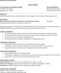 Nutritionist Resume Sample by Sample Dietitian Resume Templates