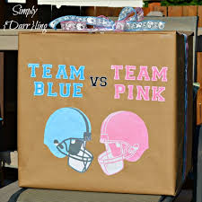 balloons in a box gender reveal diy gender reveal box simply darr
