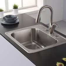 kraus 25 x 22 4 drop in kitchen sink reviews wayfair