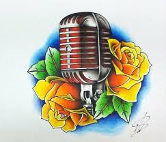 microphone sketch best tattoo designs