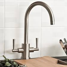 Paris Brushed Steel Kitchen Sink Mixer Tap    FindTaps - Brushed steel kitchen sinks