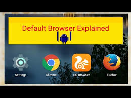 android default browser set default browser in android default browser explained