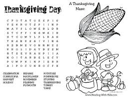placemat coloring page thanksgiving coloring pages and puzzles