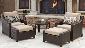 Patio Chair Sets Cheap Ottoman Furniture Patio Chairs With Ottomans Garden Barninc