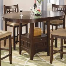 oval counter height dining table casual dark cherry wood leg oval bar table home elegance furniture