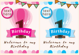 invitation 1st birthday and boy free vector