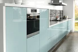 light blue gloss kitchen in a modern u0026 uncluttered slab style