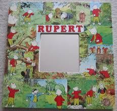 rupert bear decoupage mirror rupert bear annu folksy
