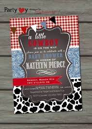 western baby boy shower invitations paperinvite