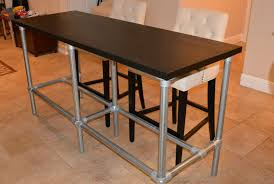 counter height folding table legs counter height console table elegant diy with pipe legs bar regard