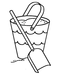 bucket filling coloring pages picture of shovel and beach bucket colouring page happy colouring