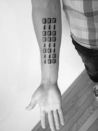 tattoo with family initials family initials in ascii binary by ben volt yelp