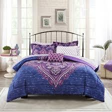 amazon com mainstays teens u0027 grace purple floral reversible