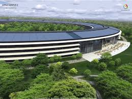 aerial video of apple spaceship campus business insider