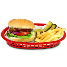 junk food basket tablecraft chicago oval platter basket 26 5x18x4cm plastic