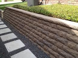 landscaping plans brick retaining wall cost inspiring garden