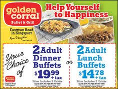 Kfc With Buffet by Golden Corral Coupons 2015 50 Off January Things Pinterest