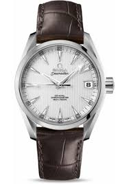 stainless steel bracelet omega watches images Omega seamaster aqua terra 150 m co axial 38 5mm ss leath jpg