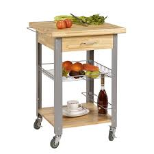 kitchen utility cart with electrical outlet microwave