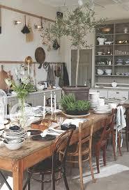 Farm Table Kitchen by 15 Amazing Farmhouse Table Settings Boho Chic Cafe Pinterest