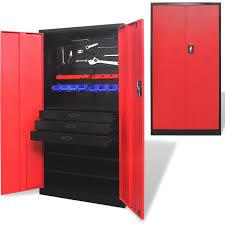 steel garage storage cabinets steel garage storage cabinet with tool chest in red buy garage
