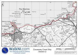 B15 Bus Route Map by Causeway Coast Way Long Distance Walking Route In County Antrim