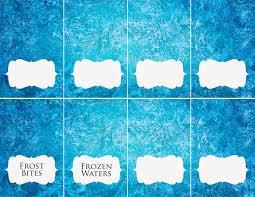 download disney frozen food place cards rambling renovators