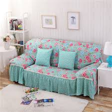 Printed Sofa Slipcovers Cotton Polyester Modern Plaid Sofa Towel Flower Floral Stripe Sofa