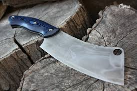 handcrafted blade fof cleeva full tang kitchen chopper handcrafted blade fof