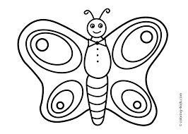 butterfly coloring page nature coloring page for kids printable