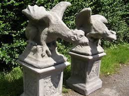 antique gargoyle and griffins statues in uk geoffs garden ornaments