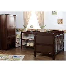 obaby grace 3 piece nursery furniture set walnut direct2mum