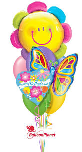 butterfly balloons s day smiley flower butterfly balloon bouquet 9 balloons