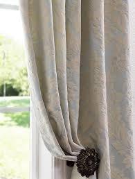 Demask Curtains Light Blue Cotton Damask Curtains