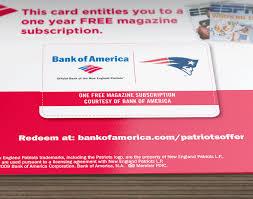 Bank Of America Design Cards Magazine Subscription Cards And Magazine Subscription Promotions