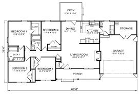 lofty idea 1 4 bedroom 3 bath ranch house plans bedroom bath ranch