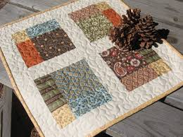 Pdf Pattern Four Square Table Topper Quilt Pdf Squares And Patterns