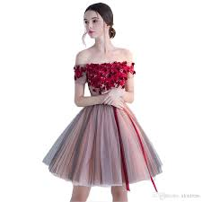 semi formal dress shoulder homecoming dresses 2017 lace flowers