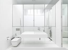 Mirrored Bathrooms Mirror Wall In Bathroom Bathroom Sustainablepals In Wall