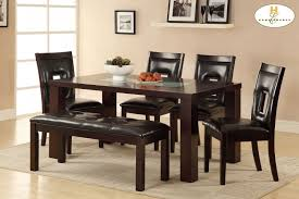 Homelegance Dining Room Furniture Dining Table With Crackle Glass Insert 252864 Tables The
