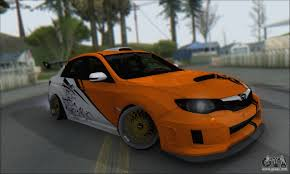 orange subaru impreza subaru impreza wrx sti 2010 for gta san andreas