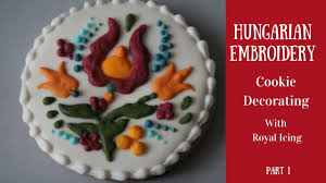 hungarian embroidery cookie decorating with royal icing part 2