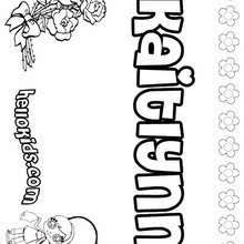 kaitlyn coloring pages hellokids